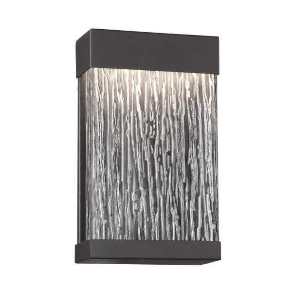 Medium 1-Light Black Integrated LED Outdoor Wall Sconce