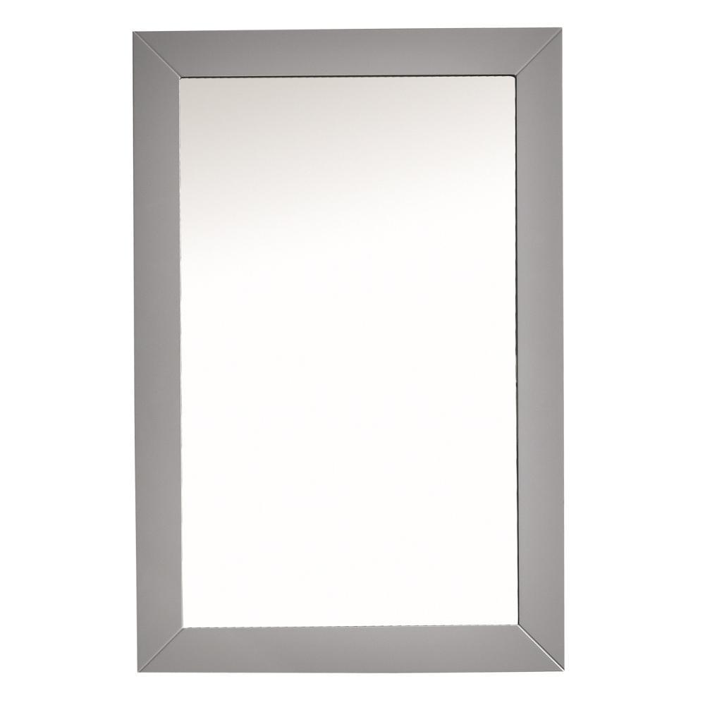 Acclaim 30 in. W x 35 in. H Framed Rectangular Bathroom Vanity Mirror in Grey
