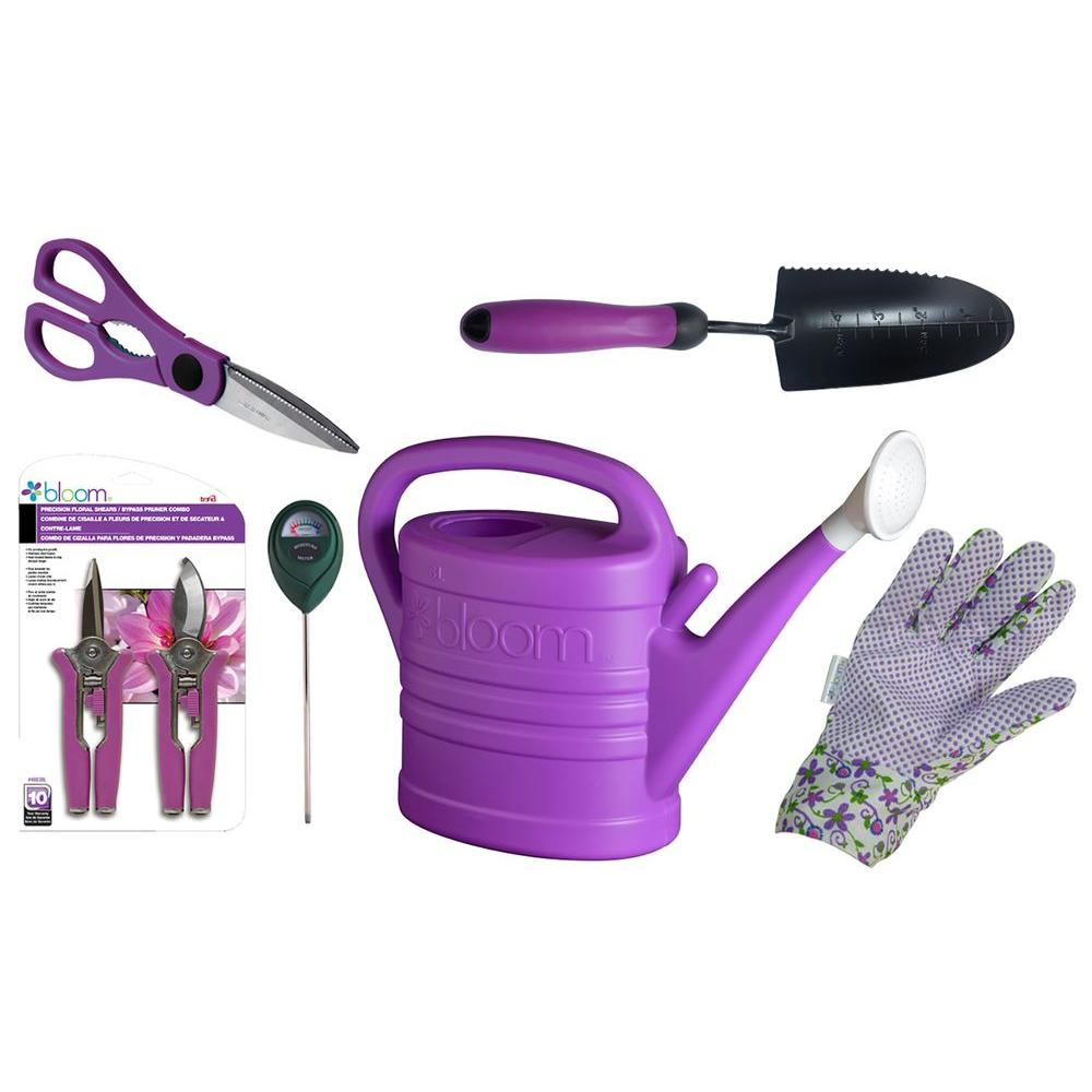Bond manufacturing bloom indoor houseplant kit in purple for Garden tools manufacturers