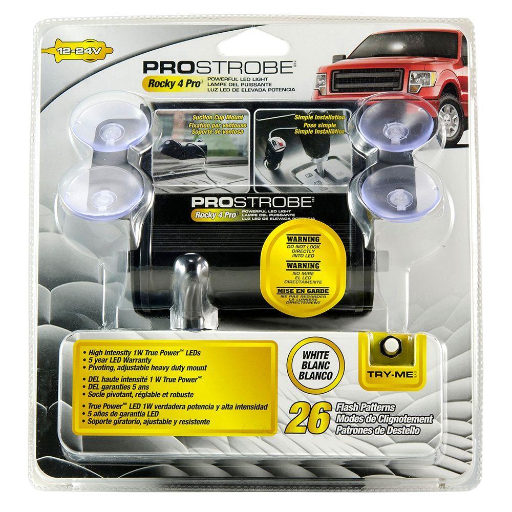 Prostrobe Rocky 4 Pro White 70755 The Home Depot Adjustable Strobe Light