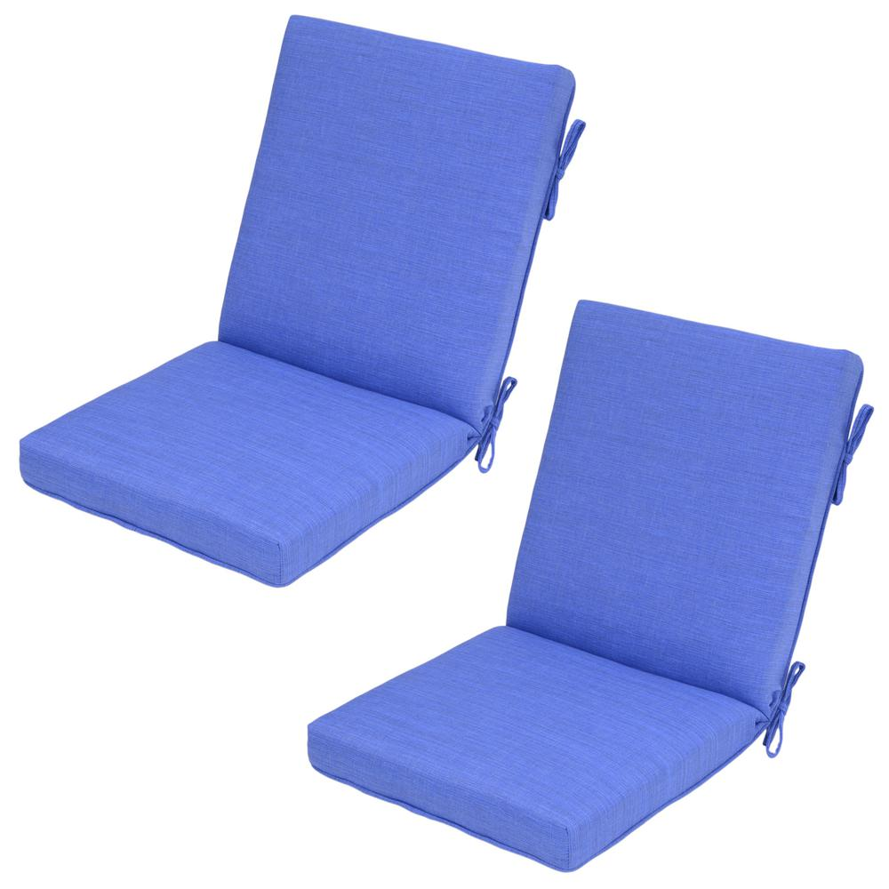 Ordinaire Periwinkle Outdoor Dining Chair Cushion (2 Pack)