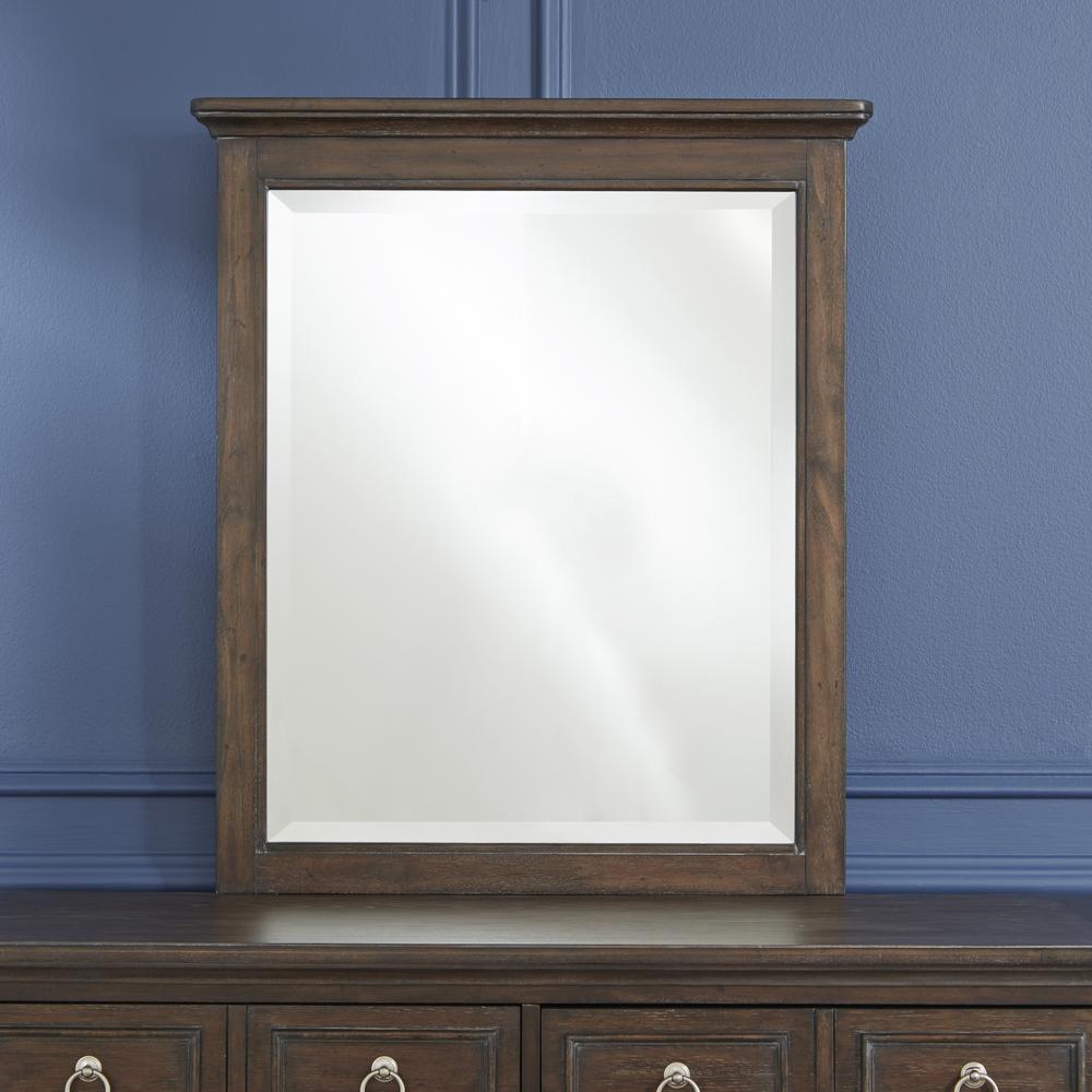 Southport Dark Aged Oak Brown Mirror