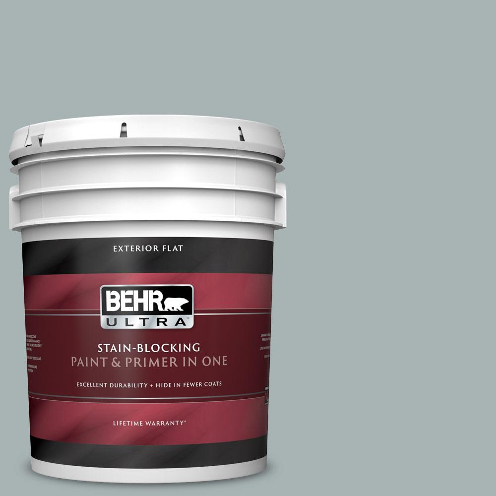 Reviews For Behr Ultra 5 Gal 730f 4 Flint Smoke Flat Exterior Paint And Primer In One 485405 The Home Depot