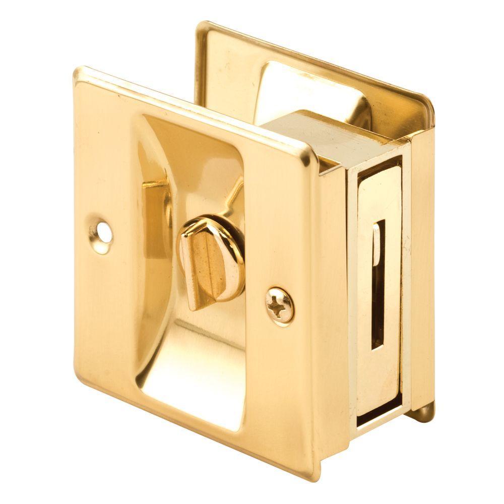 Brass Privacy Pocket Door Lock  sc 1 st  Home Depot & Brass - Pocket Door Hardware - Door Hardware - The Home Depot
