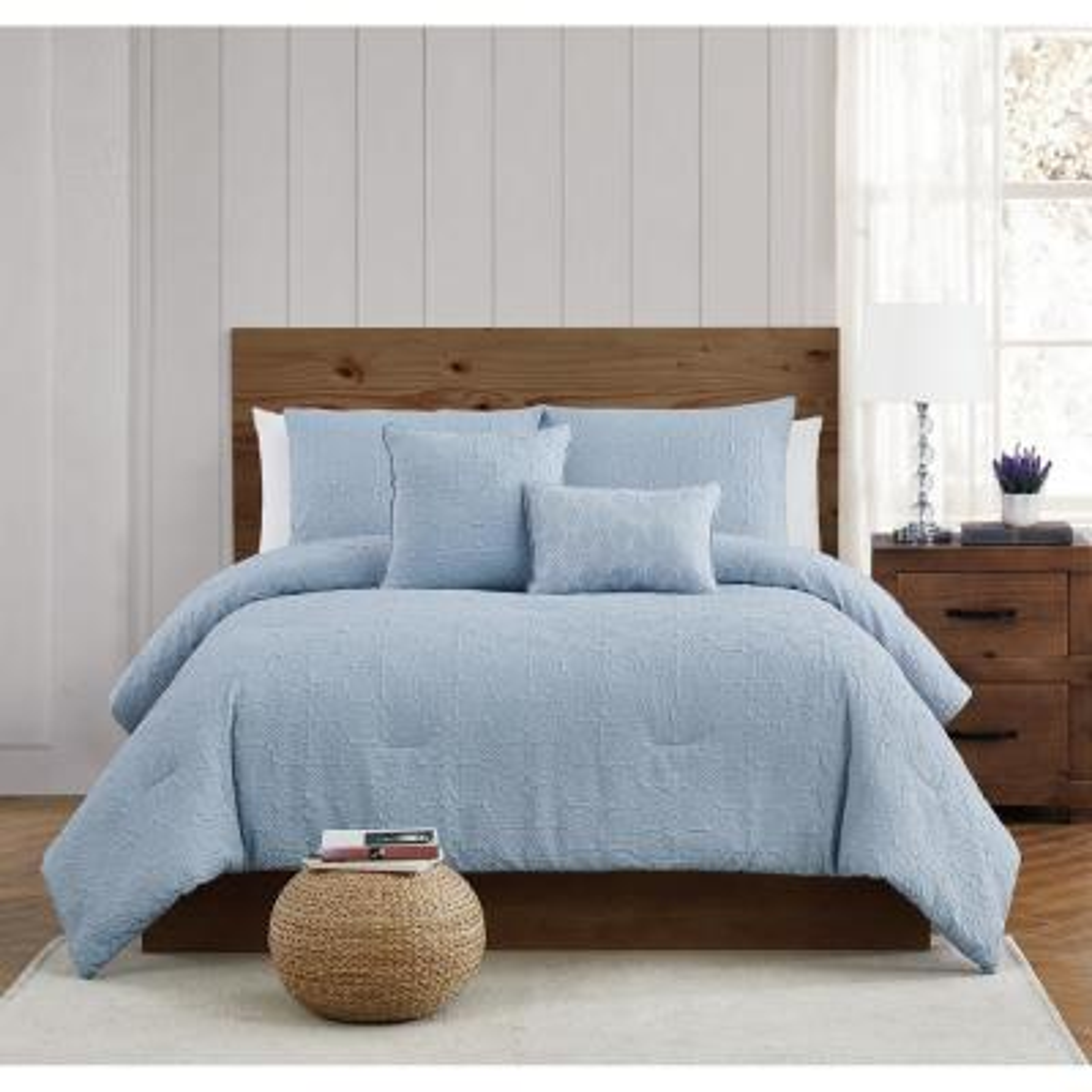 Daisy Textured 5 Piece Full/Queen Comforter Set
