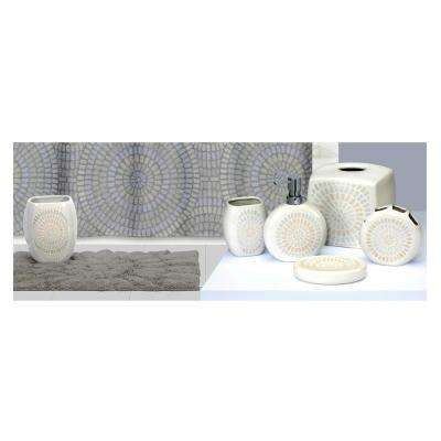 Capri' 6-Piece Ceramic Bath Accessory Collection in Grey