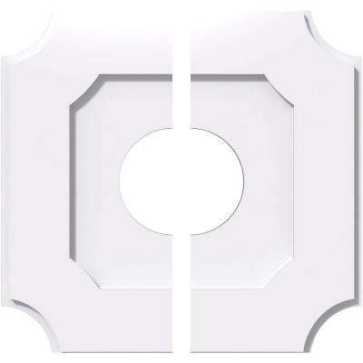 10 in. x 10 in. x 1 in. Locke Architectural Grade PVC Contemporary Ceiling Medallion (2-Piece)