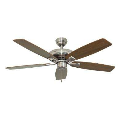 Charleston 52 in. Brushed Nickel Ceiling Fan