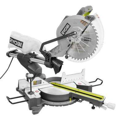15 Amp 12 in. Sliding Miter Saw with Laser