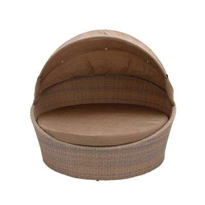Beige Rattan Cabana Chair