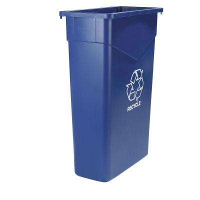 TrimLine 23 Gal. Blue Imprinted Recycling Waste Container (4-Pack)