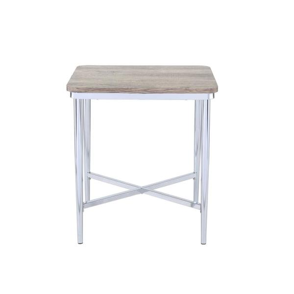 Amelia Weathered Oak Tapered Leg End Table