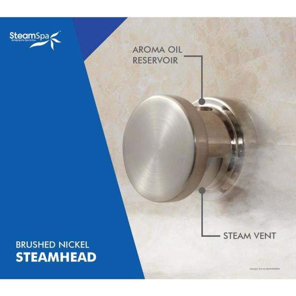 Steamspa Indulgence 6kw Quickstart Steam Bath Generator Package With Built In Auto Drain In Polished Brushed Nickel Int600bn A The Home Depot