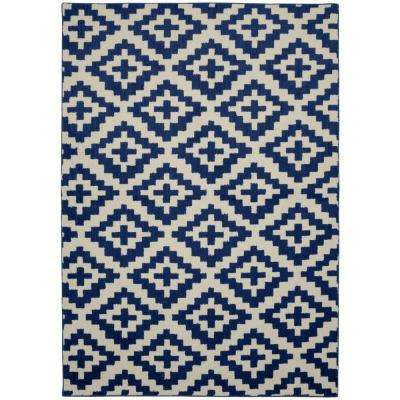Southwest Indigo/Ivory 5 ft. x 7 ft. Area Rug