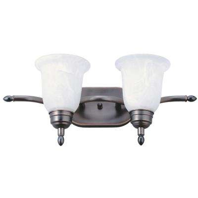 Sheffield 2-Light Bronze Fluorescent Vanity Light