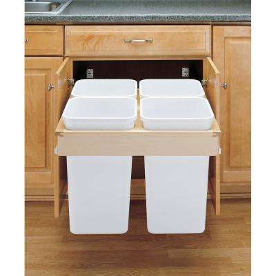 27 Qt.. Top Mount Pull Out, 4 Containers