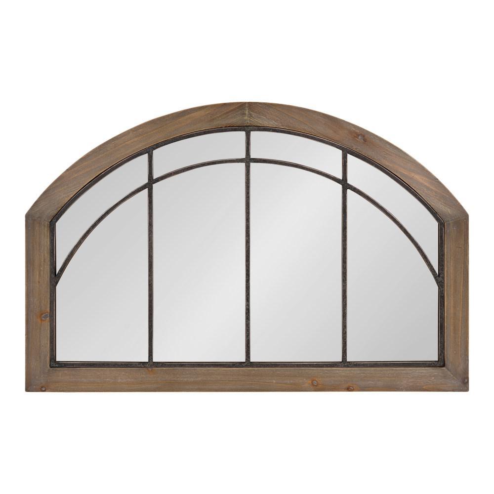 Haldron Arch Rustic Brown Wall Mirror