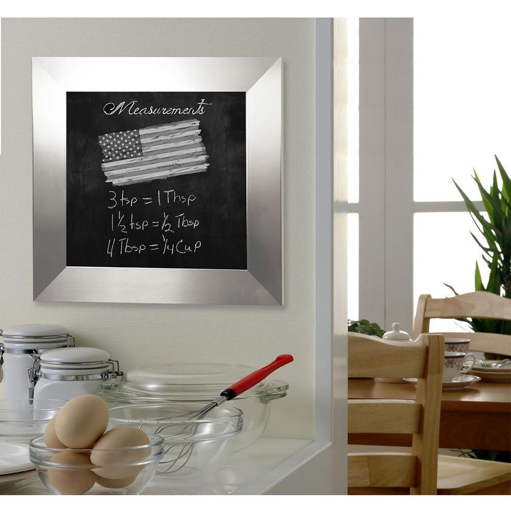 42 in. x 42 in. Silver Wide Blackboard/Chalkboard