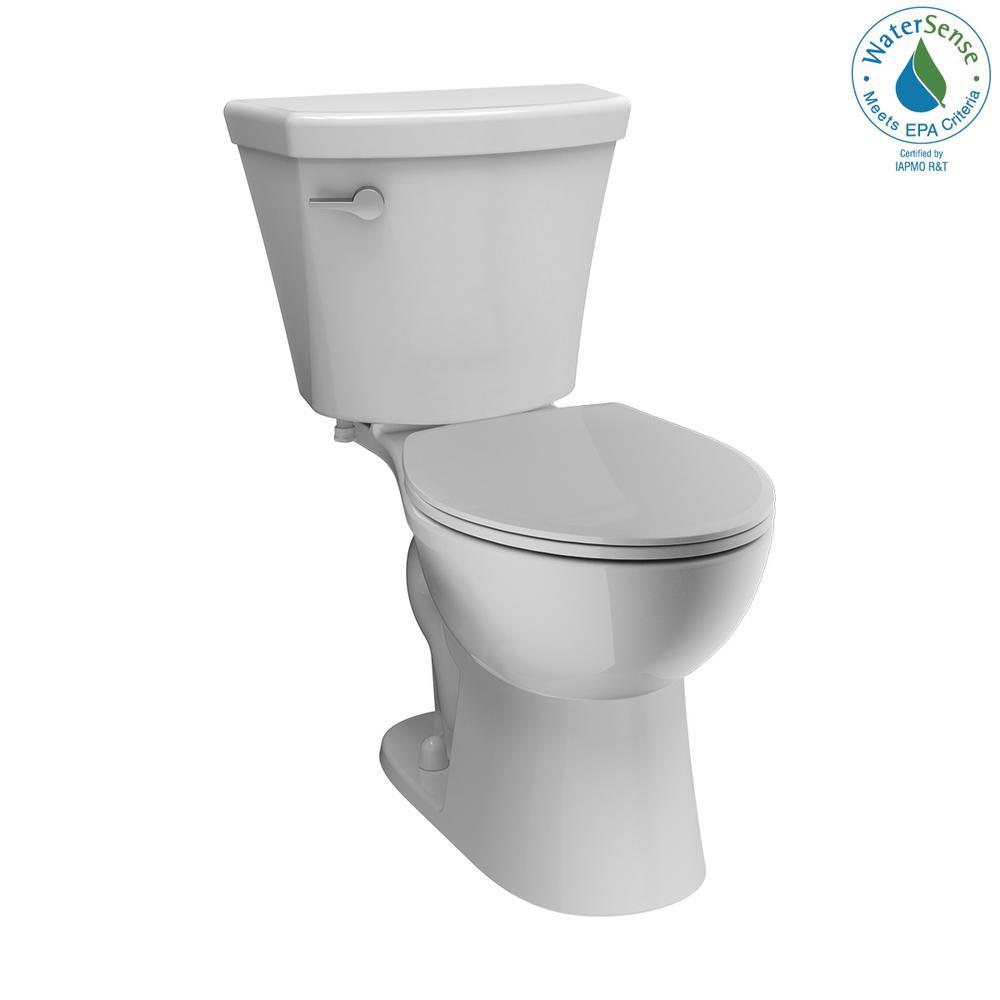 Turner 2-Piece 1.28 GPF Single Flush Round Front Toilet in White