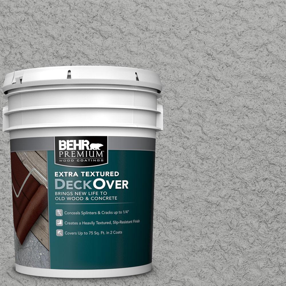 Behr premium extra textured deckover 5 gal pfc 68 silver - Exterior textured paint home depot ...