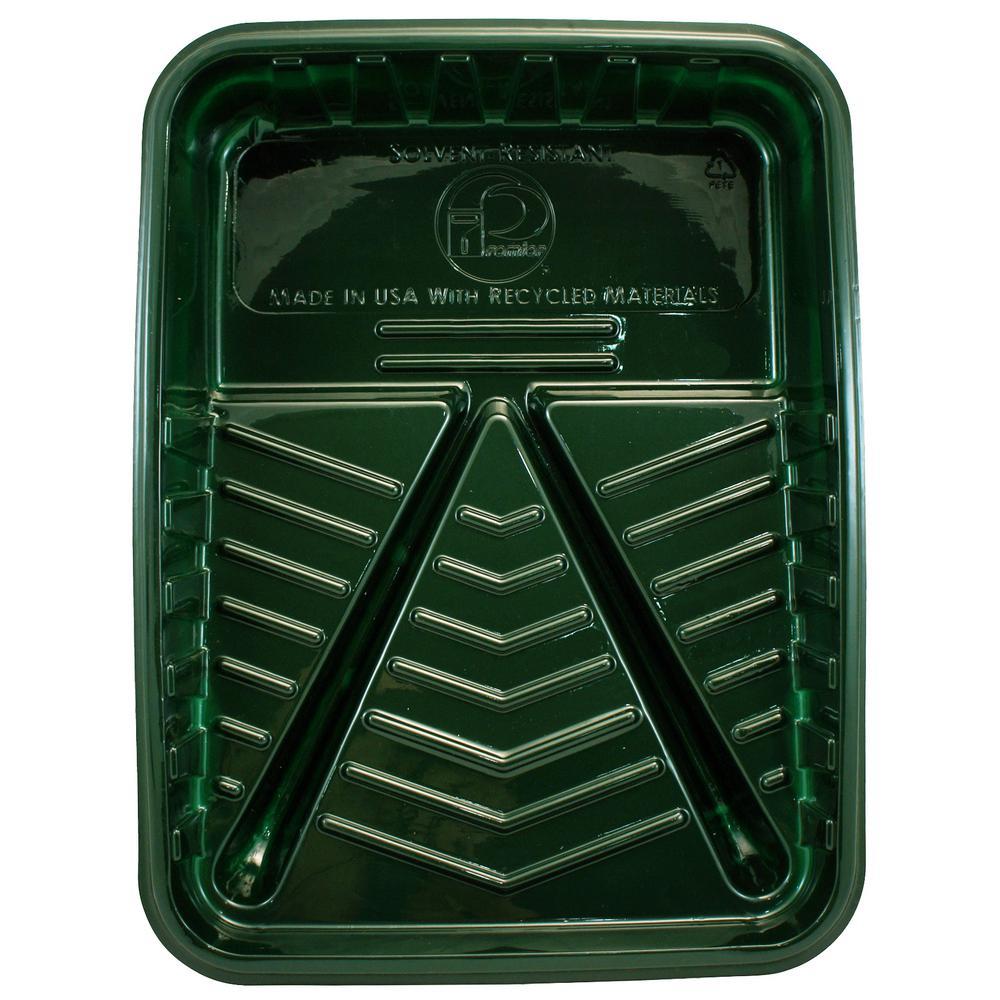 1 Qt. Green Plastic Tray (24-Pack)