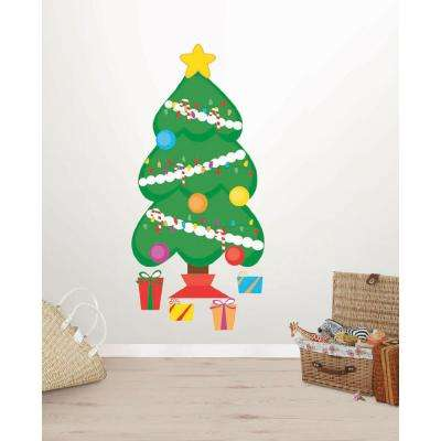 14 in. x 27 in. Decorate a Tree Small Wall Art Kit