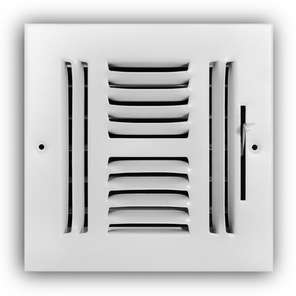 6 in. x 6 in. 4-Way Wall/Ceiling Register