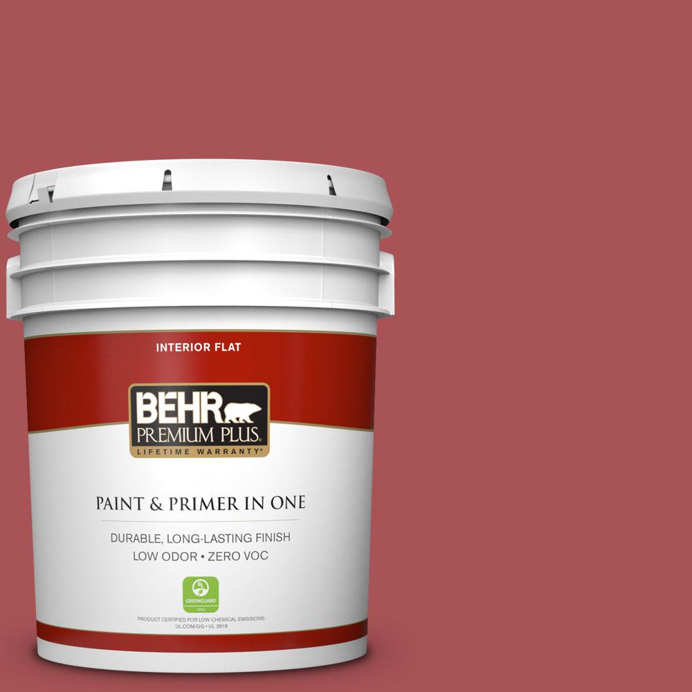 5 gal. #M150-6 Lingonberry Punch Flat Zero VOC Interior Paint and