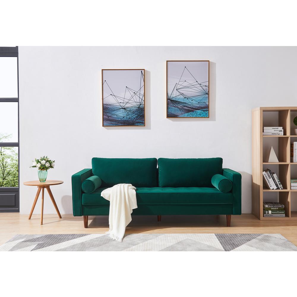 Sensational Harper Bright Designs Green Mid Century Modern Velvet Bralicious Painted Fabric Chair Ideas Braliciousco