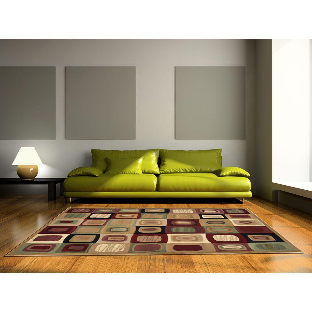 Home Dynamix The Edge Cream 5 ft. 2 in. x 7 ft. 6 in. Indoor Area Rug