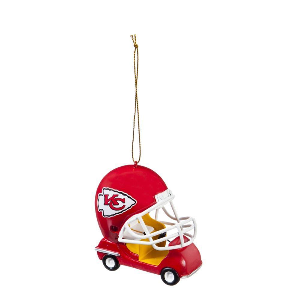 Team Sports America Kansas City Chiefs 3 in. NFL Field Car Christmas Ornament