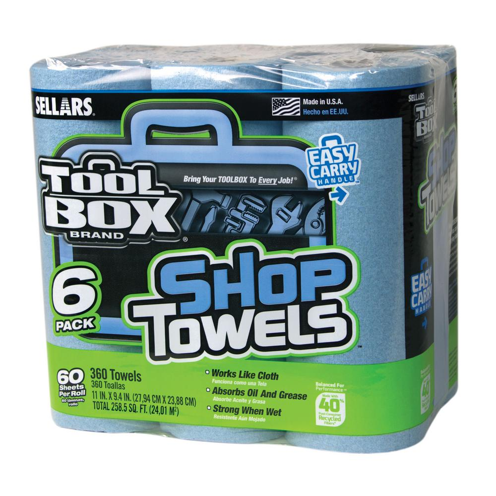 TOOLBOX 60-Count Shop Towel Roll (6-Pack)