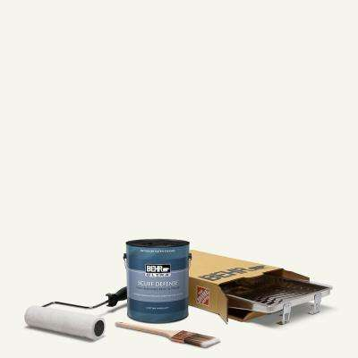 1 gal. #75 Polar Bear Extra Durable Satin Enamel Interior Paint and 5-Piece Wooster Set All-in-One Project Kit