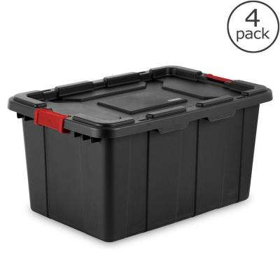 27-Gal. Industrial Storage Tote (4-Pack)
