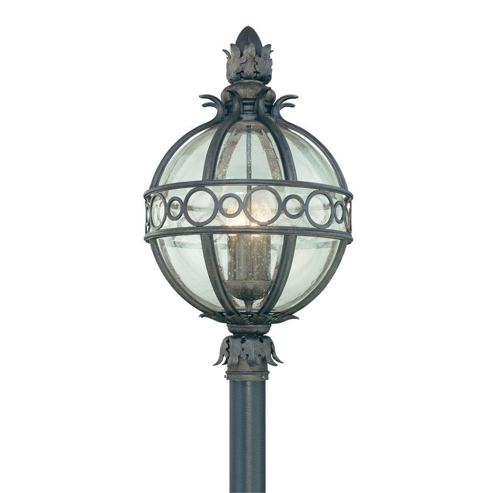 Campanile 4-Light Outdoor Campanile Bronze Post Light