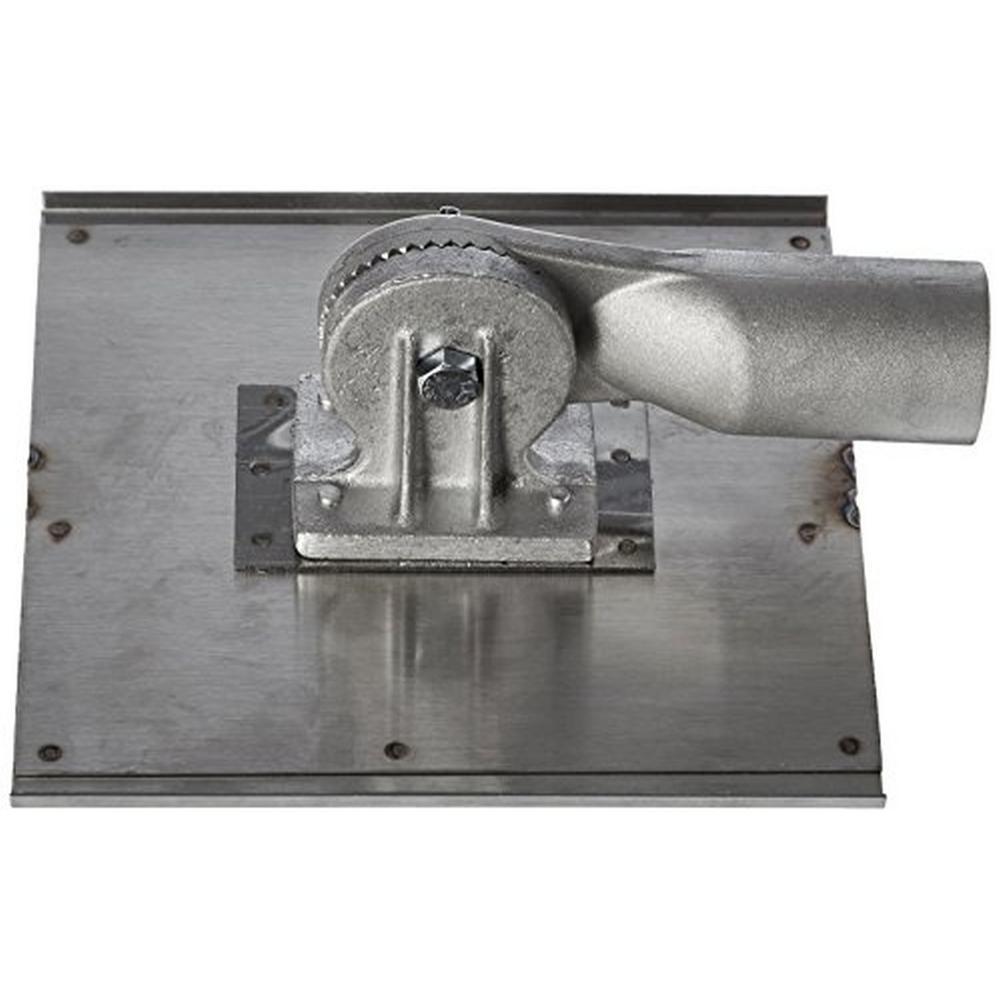 8 in. x 8 in. 1/2 in. R 3/4 in. D Stainless Steel Walking Seamer/Groover - Threaded Handle Socket