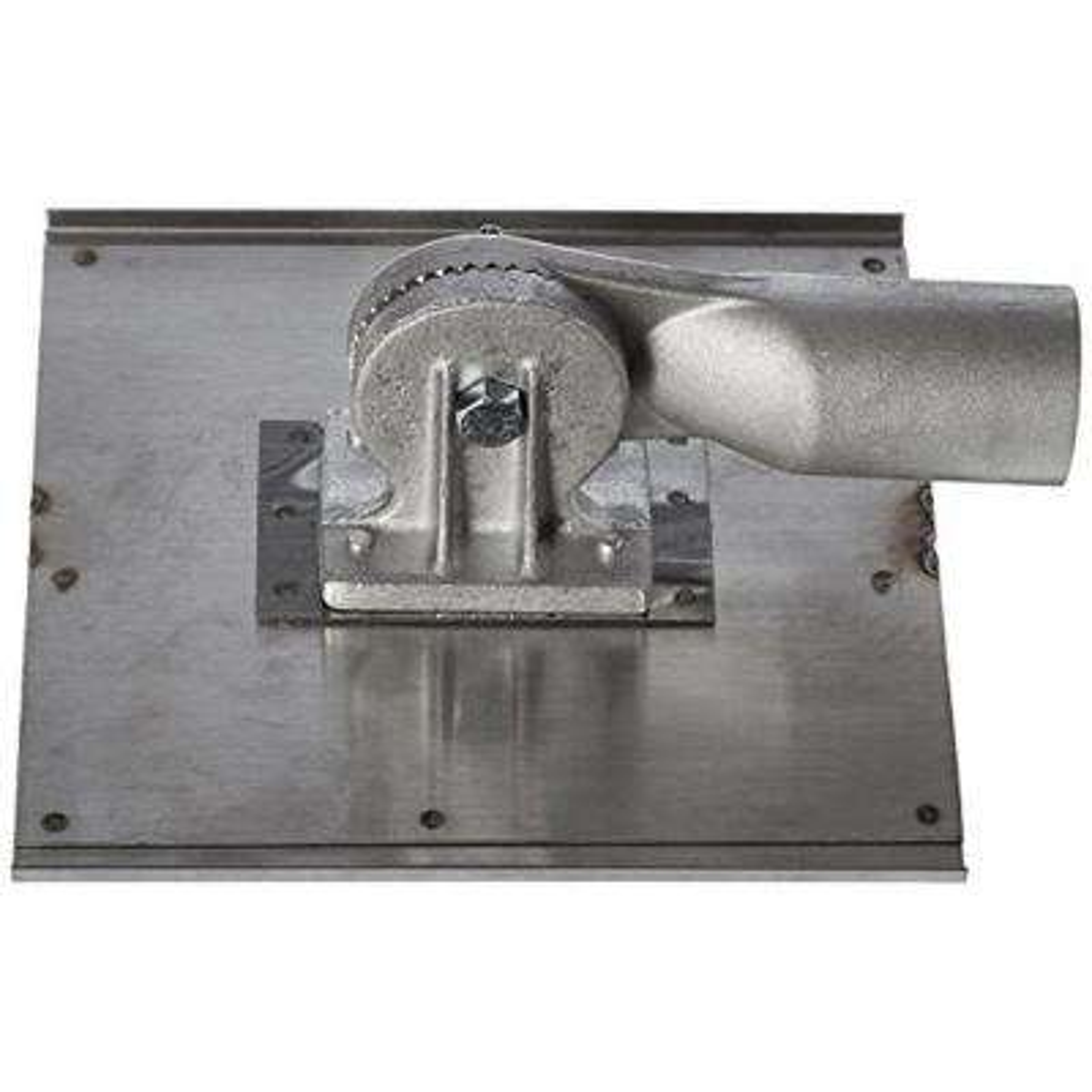 10 in. x 10 in. 1/4 in. R 1/2 in. D Stainless Steel Walking Seamer/Groover - Threaded Handle Socket