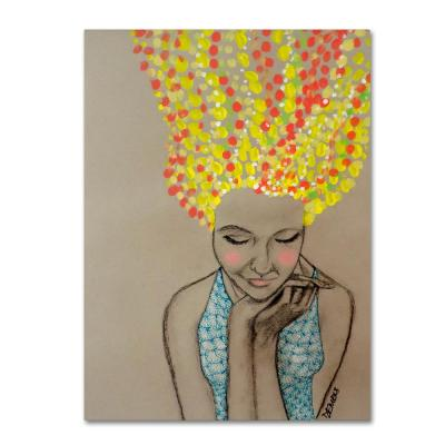 """32 in. x 24 in. """"Miss Sunshine"""" by Sylvie Demers Printed Canvas Wall Art"""