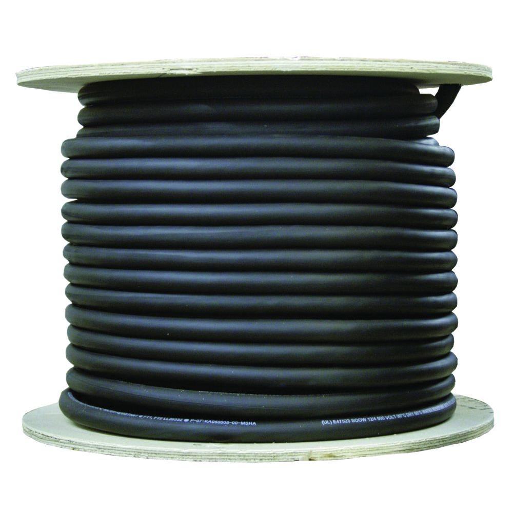100 ft. 6/3 600-Volt CU Black Flexible Portable Power SOOW Cord