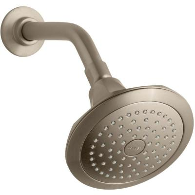 Memoirs Classic  1-Spray 5.5 in. Single Wall Mount Fixed Shower Head in Vibrant Brushed Bronze