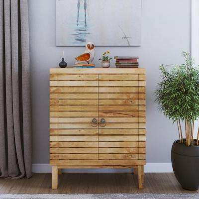 Natural Finish Storage Cabinet
