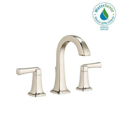 Townsend 8 in. Widespread 2-Handle High-Arc Bathroom Faucet with Speed Connect Drain in Polished Nickel