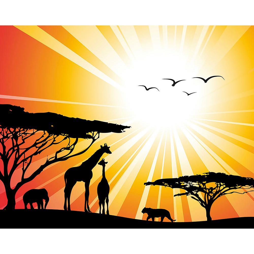 Sunset Safari Wall Mural