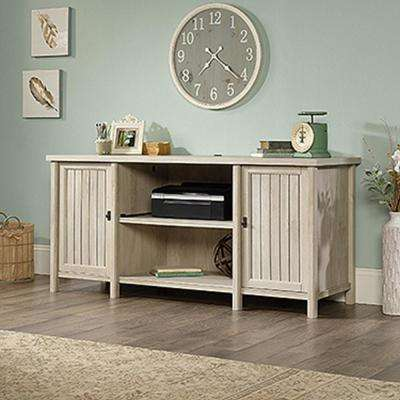 Costa Chalked Chestnut Desk and Credenza