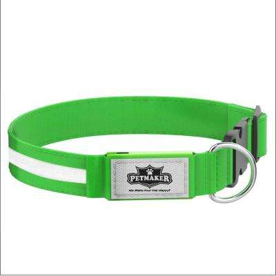 Large Green LED Dog Collar