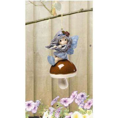 Forest Fairy 6.25 in. Resin Hanging Bell Ornament