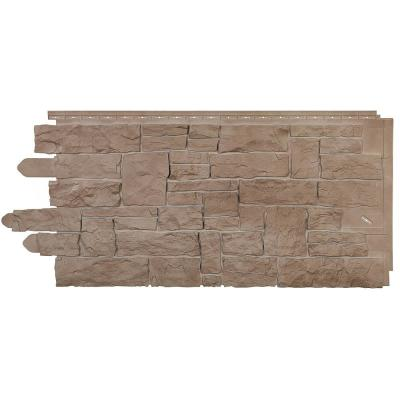Stone SK - Stacked Stone 20.250 in. x 45 in. in Sand Blend (49.32 sq. ft. per Box) Vinyl Siding