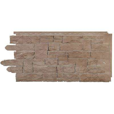 Stone SK - Stacked Stone 20.250 in. x 45 in. in Sand Blend (49.32 sq. ft. per Box) Plastic Panel Siding