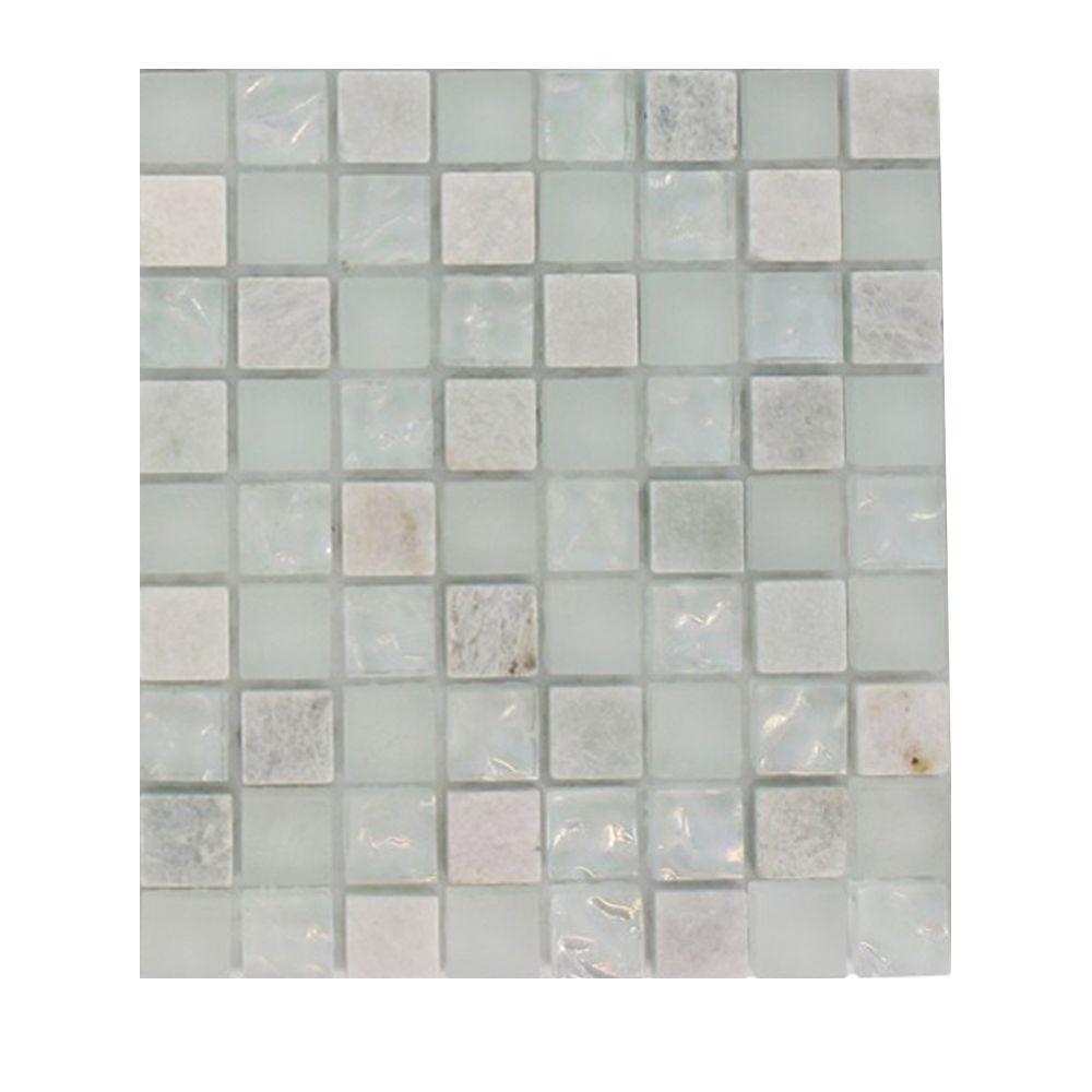 Splashback Tile Emerald Bay Blend Squares 1 2 In X