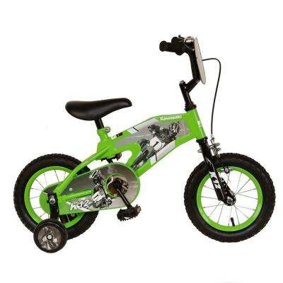 Monocoque Kid's Bike, 12 in. Wheels, 8 in. Frame, Boy's Bike in Green